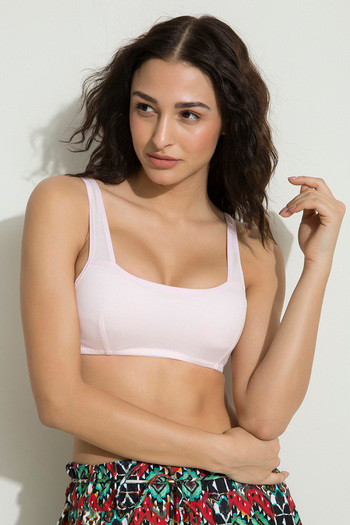 6da922379 Zivame Teens Double Layered Slip On Uniform Bra Pink available at Zivame  for Rs.179