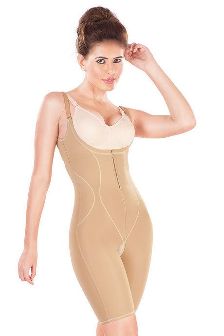Dermawear Slimmer Short Length Bodysuit with Underbust- Skin