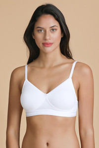 ecce98f90 Buy Enamor Full Coverage Non Padded Wirefree Bra- White at Rs.449 ...