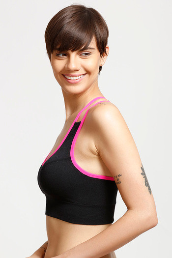 538cd09c1a Buy Enamor Medium Impact Cross Back Sports Bra- Black at Rs.999 ...