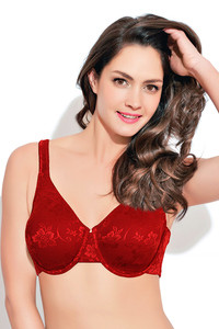 0cba66389bdb5 size. BestSellers. Bestsellers  High Price  Low Price  New Arrivals   Discounts  Popular. Buy Enamor Single Layered Minimiser Bra- Red