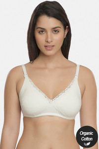 Buy Inner Sense Organic & Antimicrobial Double Layered Wirefree Nursing Bra - White