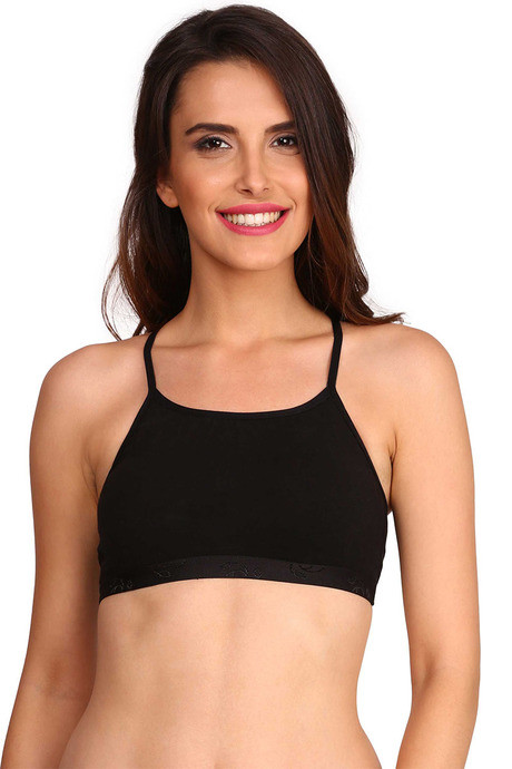 Buy Jockey Soft Cotton Beginner Bra- Black at Rs.199 online  2bda257c8