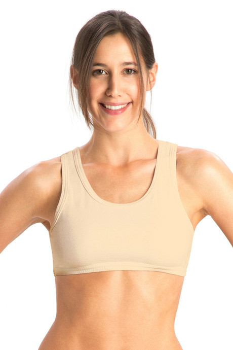 246d16a1d39f3 Buy Jockey Cotton Low Impact Sports Bra-Skin at Rs.219 online