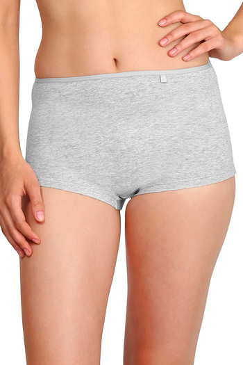 model image of Jockey Low Rise Boyshort Panty- Light Grey