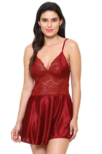 f0130daeb1dfd7 Buy Klamotten Lace Babydoll - Maroon