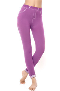 Buy Zivame PowerStretch Toning Denim finished Leggings-Purple