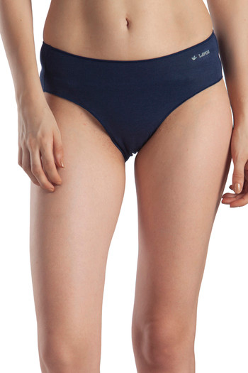 model image of Lavos High Rise No Visible Panty Line Hipster Brief - Blue