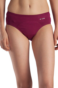 Buy Lavos High Rise No Stain Period Hipster Brief - Purple