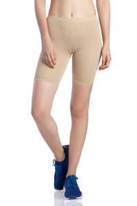 Buy Lavos Bamboo Cotton High Rise Full Coverage Layering Shorts - Skin