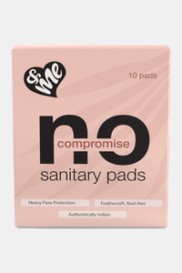 Buy &Me Sanitary Night Pads For Women (Size-XL)- 10 Napkins - White