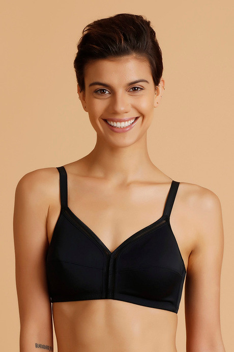 79bd6c585c24c4 Buy Zivame True Curv Wirefree Minimiser Bra- Black at Rs.695 online ...
