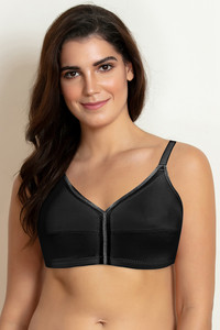 Buy Zivame True Curv Single Layered Non Wired Full Coverage Minimiser Bra-Black