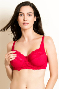 de8b5cdb4ac3d Buy Zivame Essentials No Sag Floral Lace Underwired Balconette Bra ...