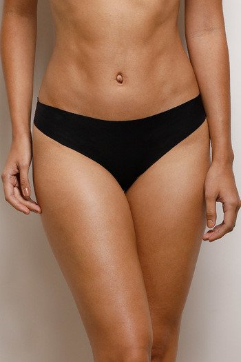 model image of Zivame No Panty Line Laser Cut Bikini Brief- Black