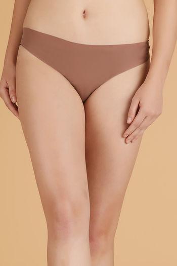Zivame No Panty Line Laser Cut Bikini Brief- Skin