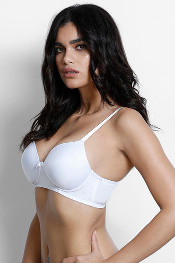 219f5365d5e Buy Zivame Padded Wirefree T-Shirt Bra - White at Rs.398 online ...