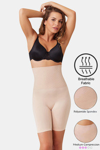 Buy Zivame Medium Compression Tummy Tucker Short - Skin