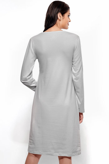 d56d973bcb Buy Zivame Made For Moms Full Sleeved Feeding Night Dress - Grey at ...