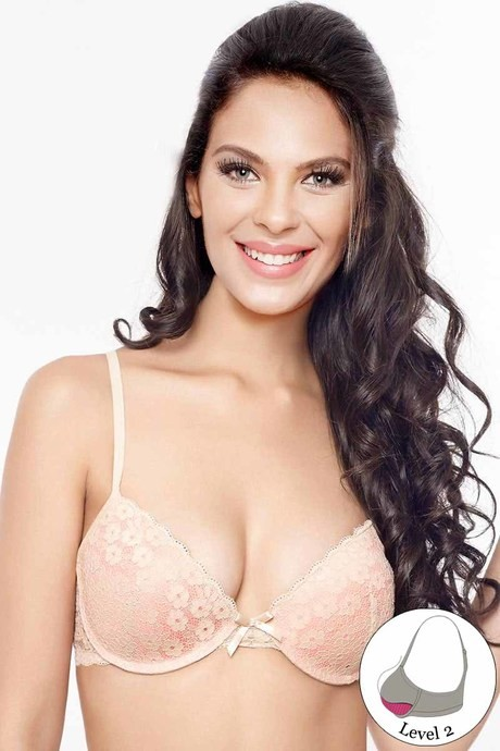 eb13fc2ba Buy Zivame Lace Embrace Wired Moderate Push Up Peach Bra at Rs.1036 ...