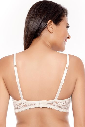 5cc15e21e6 Buy Zivame Lace Embrace Wired Moderate Push Up Green Bra at Rs.907 ...