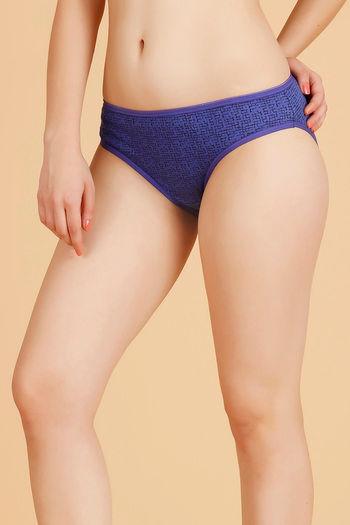 fc6f5cb8e5ac5 Buy Rosaline Cotton Bikini Panty- Blue Red N Purple at Rs.279 online ...