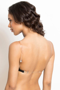 Buy Rosaline Basics Padded Non Wired 3/4th Coverage Backless Bra-Black