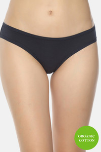 Buy Soul Space Organic Cotton Low Rise Bikini Panty - Navy Blue