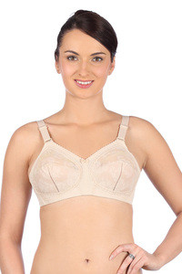 Buy Triumph Three Sectioned Full Coverage Super Support Bra- Skin