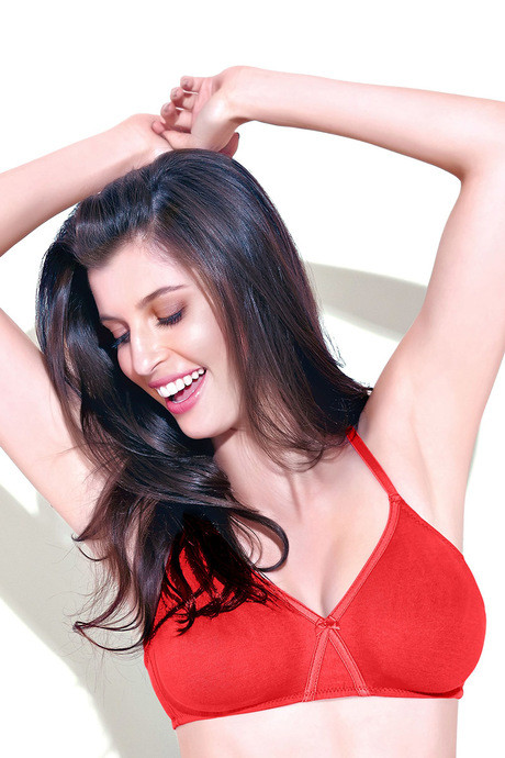 09c931552f3 Buy Enamor High Coverage Non Padded Cotton Bra-Red at Rs.325 online ...