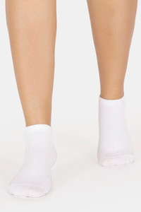 Buy Vrova Antibacterial & Antifungal Acupressure Ankle Socks - White