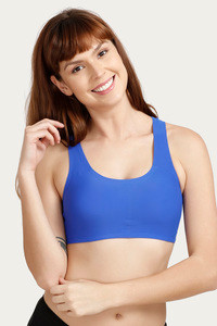 45ff71225a097 Buy Rosaline Clean Finish Racerback Bralette with Removable Padding- Royal  Blue