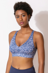 f829008870 Buy Zelocity Animal Print Sports Bra With Removable Padding - Blue N Print