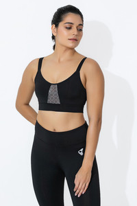 3195051ffc5 Buy Zelocity Medium Impact Sports Bra With Removable Padding - Black