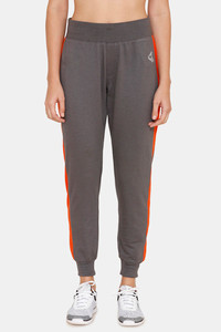 Buy Zelocity Easy Movement High Rise Joggers - Grey