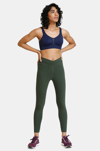 Buy Zelocity Fleece lined Wide Waist Band Sports Bra - Blue