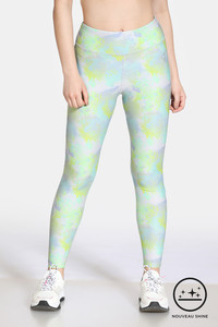 Buy Zelocity High Rise Nouveau Shine Legging - Lime Punch