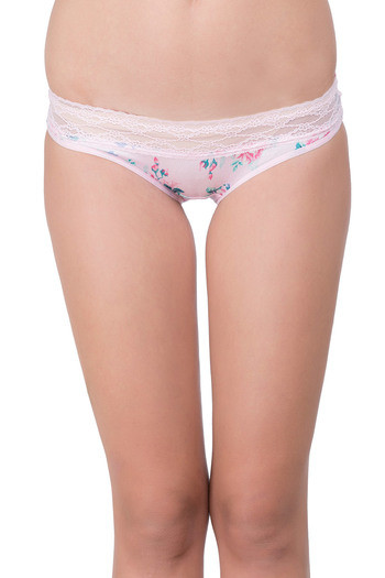 Zivame Super Soft Lace Kissed Hipster Panty- Pink Rose
