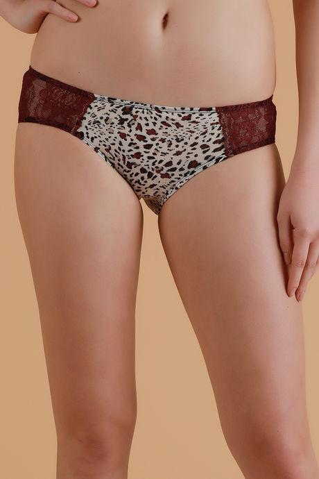 ebe9c3ac6da Buy Zivame Hint of Lace Smooth Bikini Panty- Animal Print at Rs.207 ...