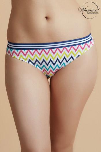 model image of Zivame Whimsical Low Rise Bikini Panty- Blue
