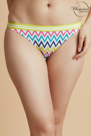 model image of Zivame Whimsical Low Rise 3/4Th Coverage Bikini Panty-Red