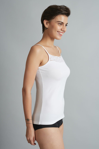 21033d45ee Buy Zivame Square Neck Cotton Camisole- White at Rs.279 online ...