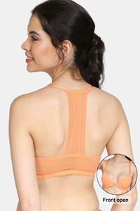 Buy Zivame Bohemian Magic Push Up Regular Wired Medium Coverage Bra - Orange