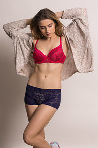 5f7ca0664d Buy Zivame Colour Struck Padded T-Shirt Bra - Dark Pink
