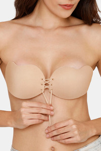 Buy Zivame Padded Non Wired 3/4th Coverage Stick On Bra-Skin