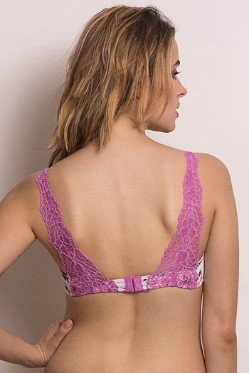 model image of Zivame Color Struck Padded Non Wired 3/4th Coverage Pretty Back Bra-Lilac Sachet