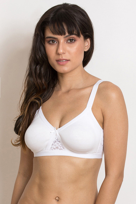 1e66920d750e0 Buy Zivame Wirefree Super Support Bra- White at Rs.500 online