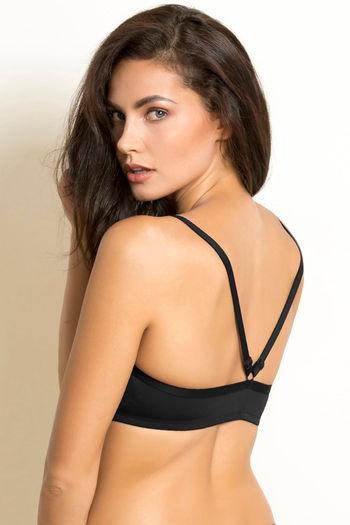 model image of Zivame Padded Pretty Back Bra-Black