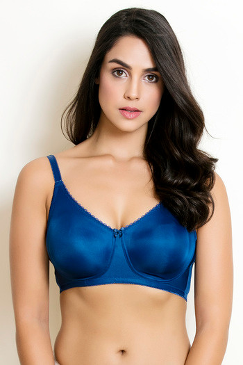 945bac434c6dc Buy Zivame True Curv Double Layered Wirefree Bra- Navy