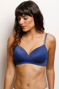 1ee848801 Buy Zivame Glitter Straps Radiance Smooth Padded T-Shirt Bra- Navy
